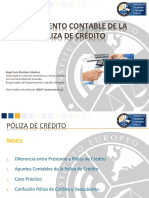 tratamiento contable de la póliza de crédito