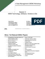 MDM Workshop 04-Technology, Software, Vendors & SIs [לקריאה בלבד] [מצב תאימות]