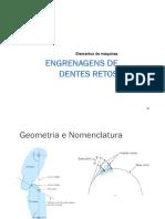 Elementos de Máquinas II - 2017 - Engrenagem Dente Reto