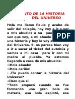 CUENTO DEL UNIVERSO PAULA GARCÍA 6ºB