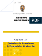 ECUACIONES DIFERENCIALES ORDINARIAS-MÉTODOS NUMERICOS