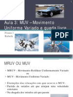 Aula 3 _ MUV ou MRUV