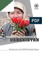 Primary Care Quality Management in UZB