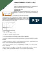 Bingo Matemático de Operaciones Con Fracciones