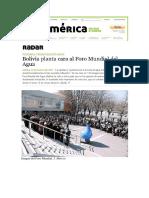 Bolivia planta cara al Foro Mundial del Agua (Otramérica, 13-03-12, Francia)