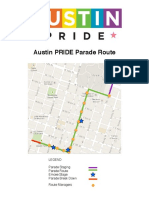 Austin Pride Parade Map