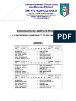 Calendario Seconda Categoria 2010/2011