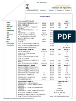 Datos Técnicos PET