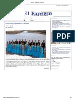 Inicio - Diario El Expreso-Coral UNEG 1