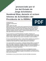Octavo Informe de Actividades Del Presidente de La CEDHJ