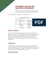 Finite Element Analysis and Optimization of Crankshaft