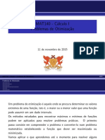 Otimizacao - MAT 140 - 2015-II