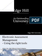 Electronic Assessment Management - Using the Right Tools