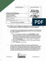 Zakinov v Ripple 6/5/2018 Complex Case Certificate
