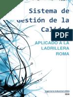 Sistema de Gestion de La Calidad Ladrillera ROMA