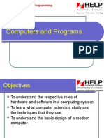 Lecture 1 - Computers and Programs