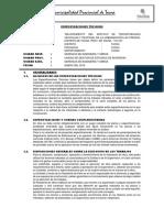 ESPECIFICACIONES TECNICAS FRESIAS