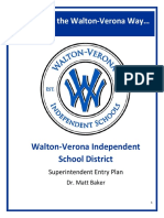 Walton-Verona Superintendent Entry Plan