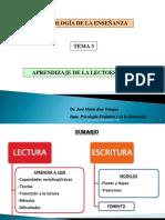 3. Aprendizaje de La Lecto Escritura Tema 3