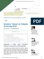 Encceja 2018 - Estrutura Textual Da Redação, Como Deve Ser Feito!