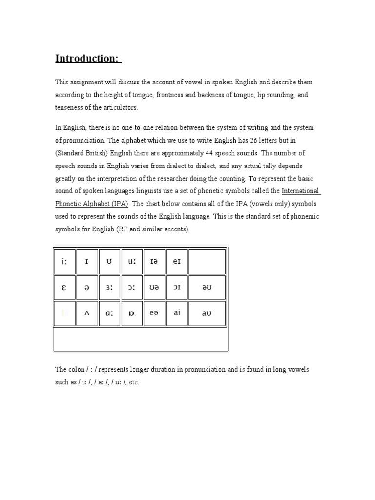 25247741 Vowels In Spoken English Vowel English Language