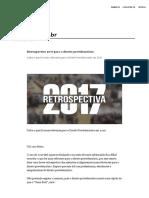 Retrospectiva 2017 Para o Direito Previdenciário