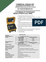 Medidor de Relacao de Transformacao AEMC DTR 8510