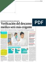 Verificación Del Descanso Médico Del Trabajador