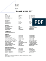 Paige Hullett Resume Privilege