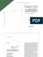 Georges Duby - La Historia Continúa