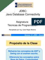 TECPRO Semana12 JDBC Conectividad a Oracle