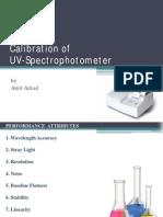 Calibration of UV Spectrophotometer