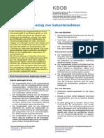 Merkblatt Beizug Von Subunternehmen