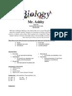 biology syllabus
