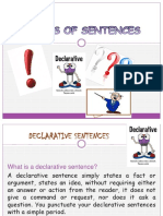 Kind of Sentences Power Point