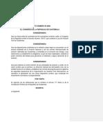 Ley de Aviacion Civil Guatemalteca