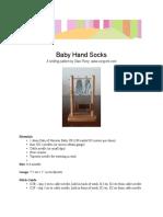 Baby Hand Socks
