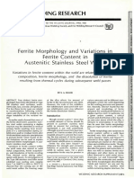 Ferrite Morphology and Variations In