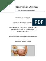 Universidad Azteca Embarazo Adolescente