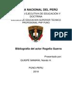 Bibliografia Del Actor Rogelio Guerra