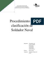 Procedimiento de Clasificación de Soldador Naval
