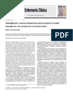 Salutogénesis, Nuevas Perspectivas Para Promover La Salud