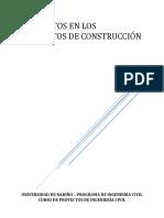03 Los Costos en Los Proyectos de Construcción