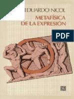 Nicol Eduardo- Metafísica de La Expresión.