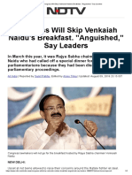 Congress Will Skip Venkaiah Naidu's Breakfast. _Anguished,_ Say Leaders