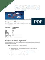 Cement Composition