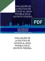 Evaluación de la política de acceso al agua potable en el Distrito Federal 2011