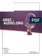 ARSC-Audio Design Document Full Report.