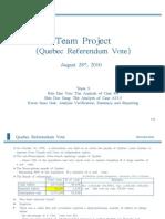 Team Project on Qubec Referendum Vote
