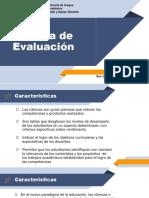 Rúbrica de Evaluación